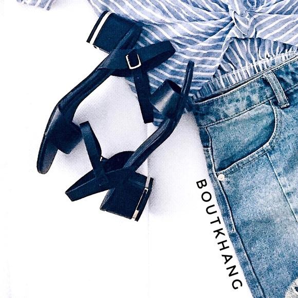 Shoes - Black Heeled Sandals
